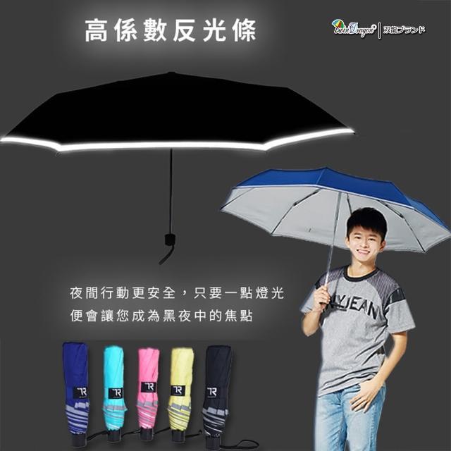 【雙龍牌】360度反光條。大剛好超撥水無敵傘三折傘(防風晴雨傘折傘陽傘B5583)