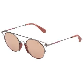 【Calvin Klein (CK)】水銀面太陽眼鏡CKJ167S-008(玫瑰金)