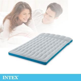 【INTEX】雙人野營充氣床墊/ 車中床-寬127cm-灰藍色(67999)