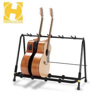 【Hercules 海克力斯】GS525B 五支吉他側放架(可以自由調整間距 擺放最多五把吉他貝斯)