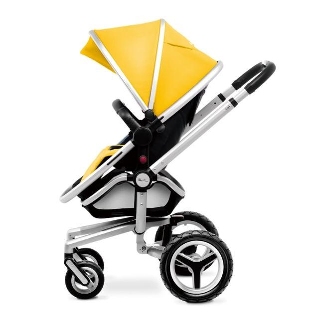 【SilverCorss】Surf2 雙向嬰兒推車(黃色)