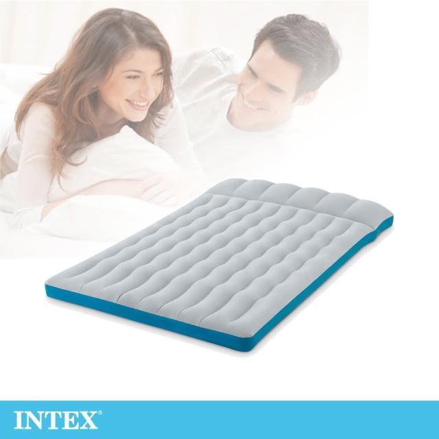 【INTEX】雙人野營充氣床墊/車中床-寬127cm-灰藍色(67999)