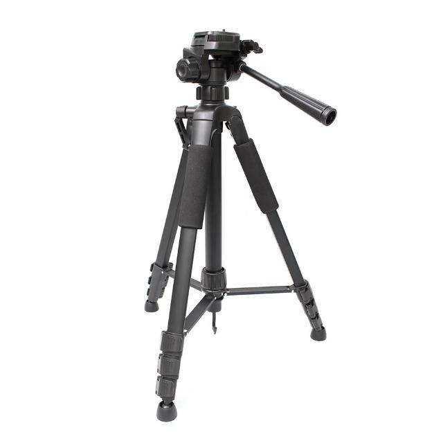 【tFriend】便攜鋁合金三腳架 相機/手機兩用(附一字型伸縮手機夾)