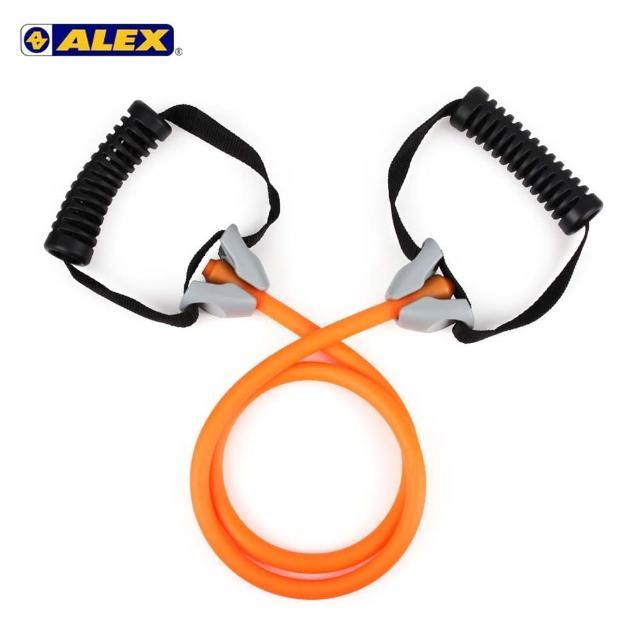 【ALEX護具】高強度拉力繩-輕型-拉力帶 瑜珈繩 彈力繩 健身阻力帶 阻力繩 訓練帶 橘(B-4302)