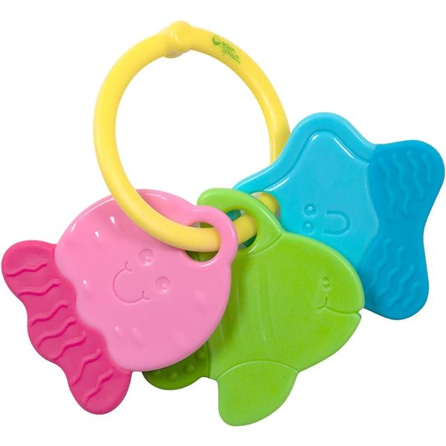 【美國 green sprouts】寶寶安全塑膠玩具 鑰匙款(GS242342)