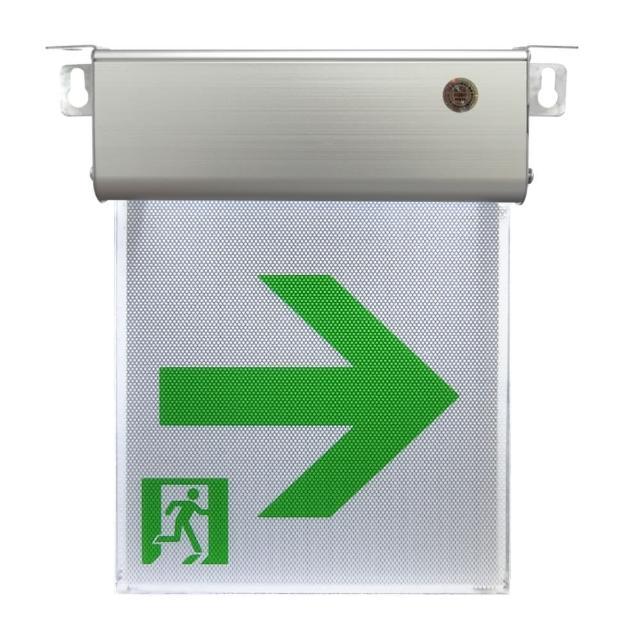 小型1:1LED避難方向燈-右向