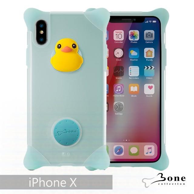 【BONE】iPhone X 泡泡保護套 - 鴨子(無毒環保矽膠)