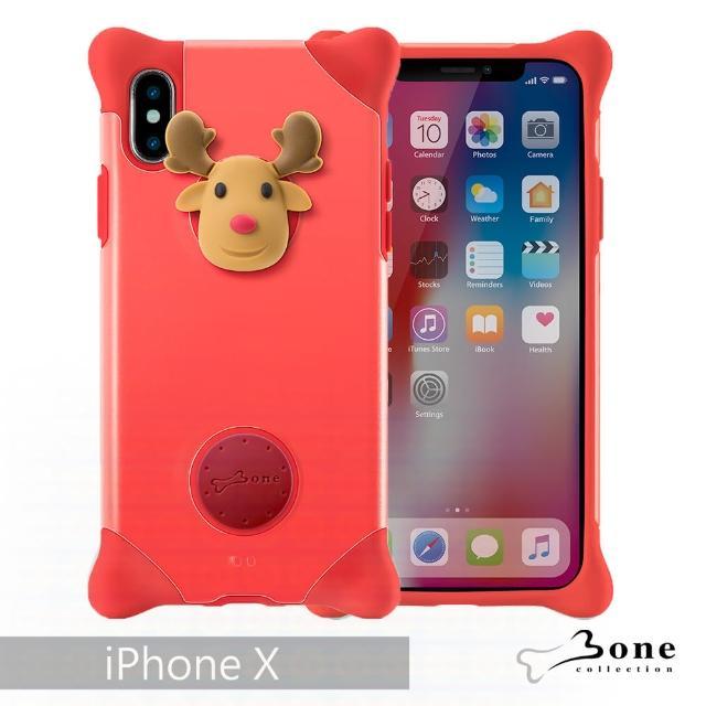 【BONE】iPhone X 泡泡保護套 - 麋鹿(無毒環保矽膠)