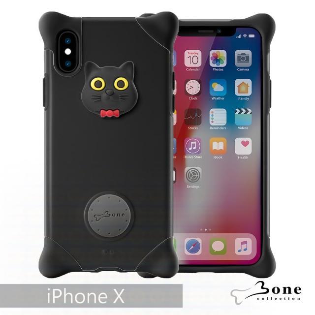 【BONE】iPhone X 泡泡保護套 - 貓咪(無毒環保矽膠)