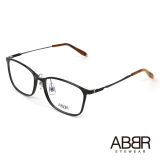【ABBR】北歐瑞典設計新一代鋁合金光學眼鏡(黑 MO-01-004-C01)