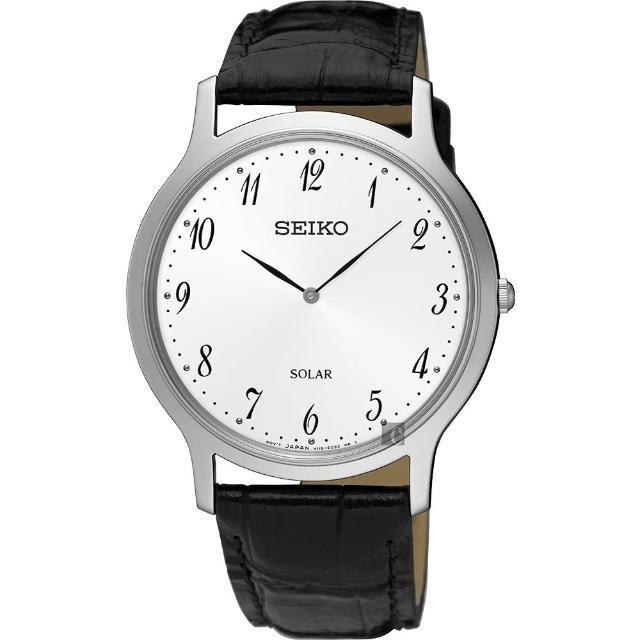 【SEIKO 精工】SOLAR 太陽能簡約手錶-白/38mm(V115-0BE0W SUP863P1)