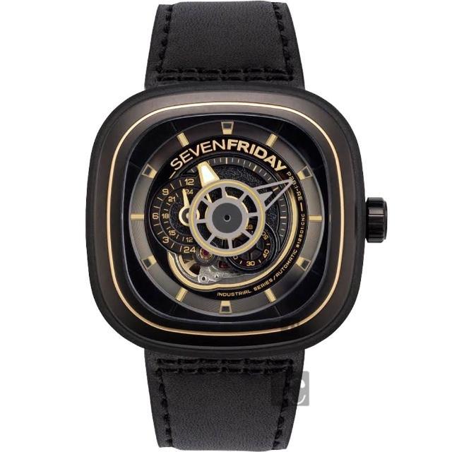 【SEVEN FRIDAY】P2B-2 解構世界自動上鍊機械錶-47mm(P2B-2)