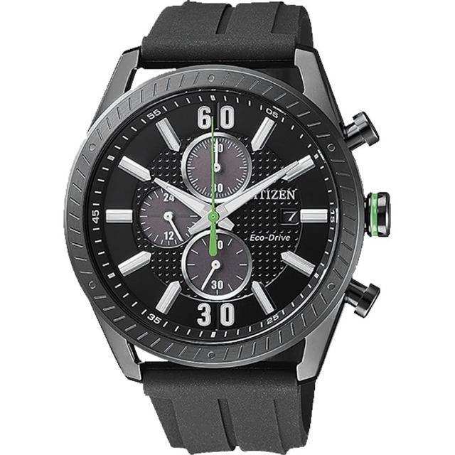 【CITIZEN 星辰】Eco-Drive 飆速風暴光動能時尚腕錶(CA0667-12E)