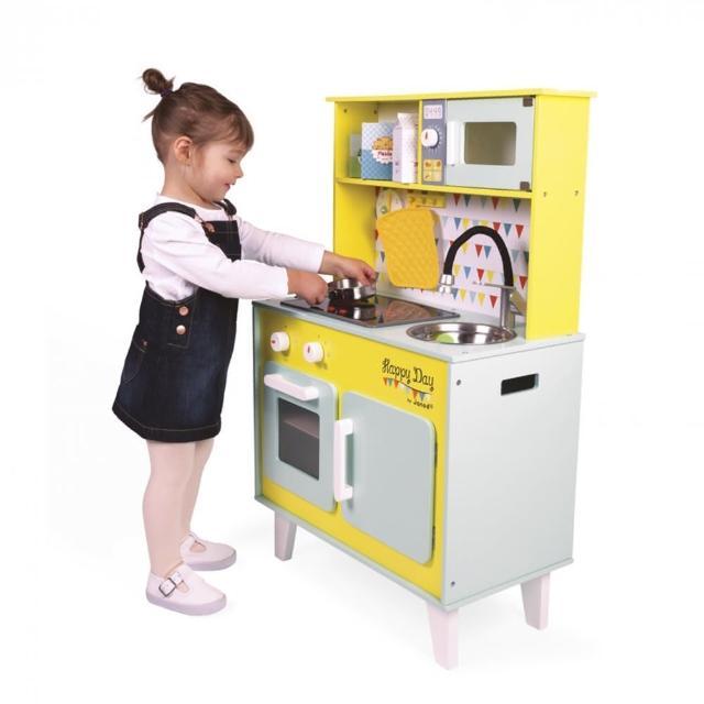 【法國Janod】妙廚師好料理-快樂的一天聲光廚具組(含配件)