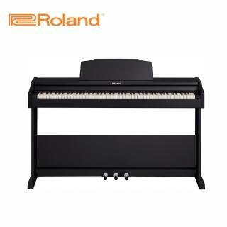 【ROLAND 樂蘭】RP102 88鍵數位電鋼琴 曜石黑色款(原廠公司貨 商品保固有保障)
