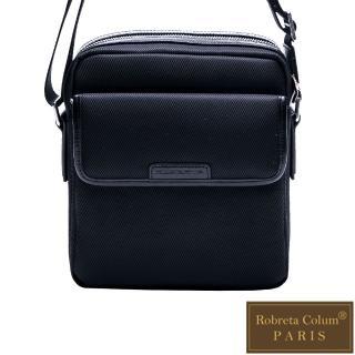 【Roberta Colum】現代雅痞休閒配真皮機能側背包-共2色