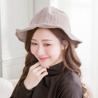 【Wonderland】時尚西瓜紋羊毛針織漁夫帽(6色可選)