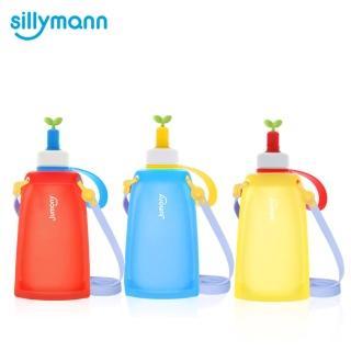 【韓國sillymann】100%兒童便攜捲式鉑金矽膠水瓶-300ml(3色)