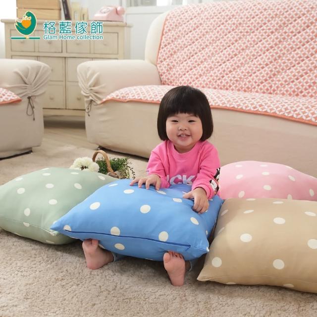 【格藍傢飾】雪花甜心彈性抱枕套42x42cm(蘇打藍)