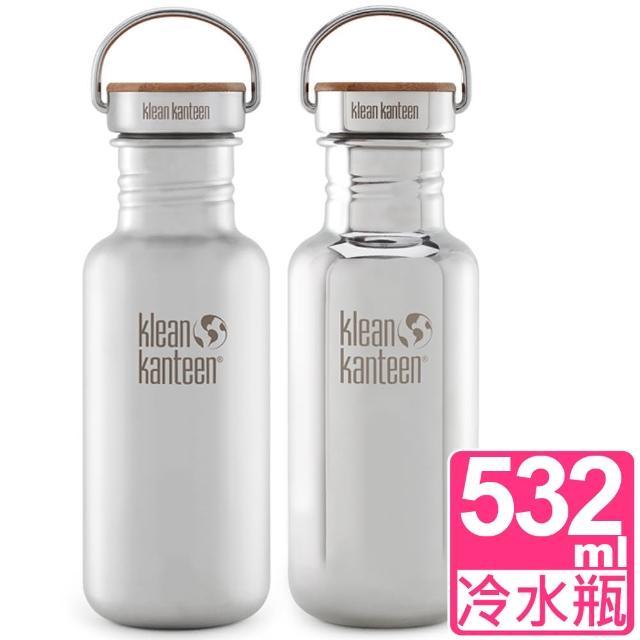 【Klean Kanteen】竹片蓋不鏽鋼冷水瓶532ml