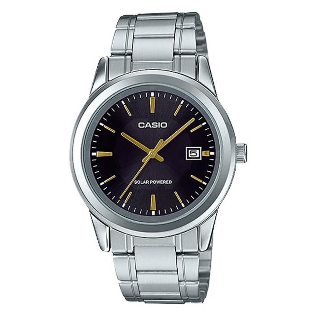 【CASIO 卡西歐】送禮首選 男錶 太陽能 不鏽鋼錶帶(MTP-VS01D-1A)