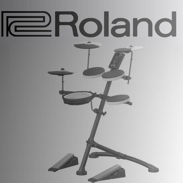 【ROLAND 樂蘭】標準可攜式V-Drums電子鼓 / 含鼓椅、耳機、鼓棒 公司貨(TD-1KV)