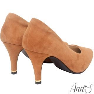 【Ann'S】危險迷人3D氣墊細緻羊麂皮尖頭高跟鞋(棕)