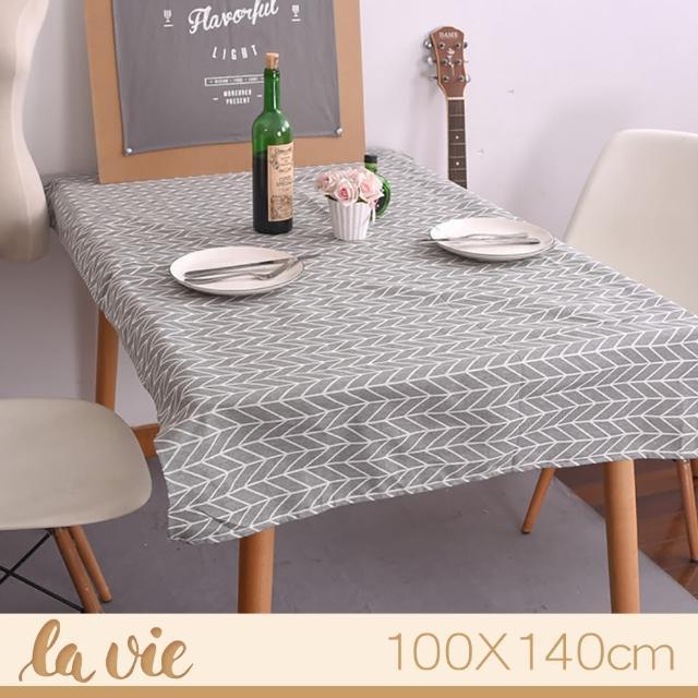 【La Vie】zakka 現代簡約灰色箭頭餐桌布(100X140cm)