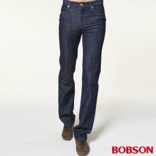 【BOBSON】男款低腰伸縮直筒褲(藍1722-52)