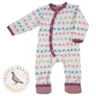 【Pigeon Organics】真舒連身衣-紫鴿(來自牛津的高貴有機棉嬰兒衣著)