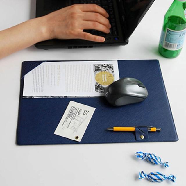 韓版辦公滑鼠墊書寫墊-藍色(EB-E19)