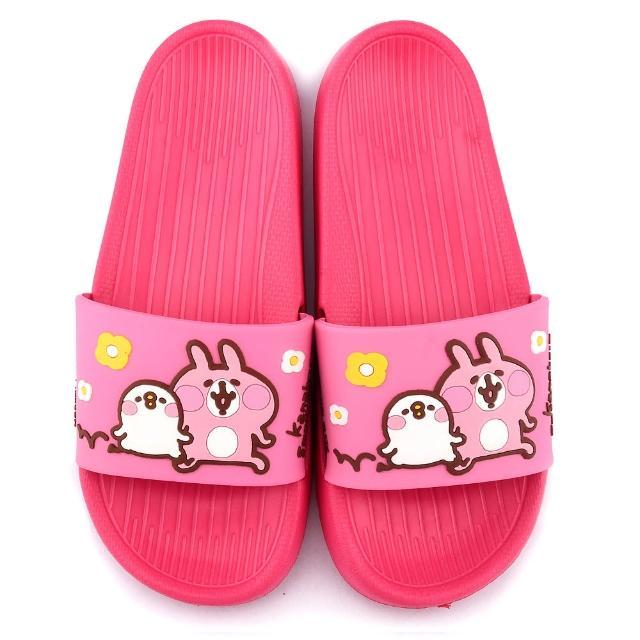 【童鞋城堡】卡娜赫拉 女款 P助超輕量室內外拖鞋(KI0536-桃)
