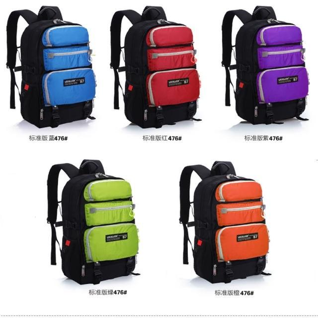 【May Shop】戶外登山背包時尚運動雙肩包 多功能商務電腦包學生書包