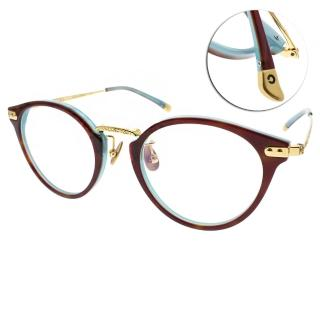 【NINE ACCORD 眼鏡】韓系簡約半圓框(琥珀-水藍#UNION NR C02)