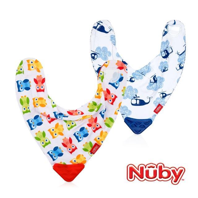【Nuby】咬咬兜-綠(蝴蝶)