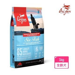 【Orijen 渴望】挑嘴犬配方 成犬專用 六種鮮魚+海藻(1公斤/2.2LB)