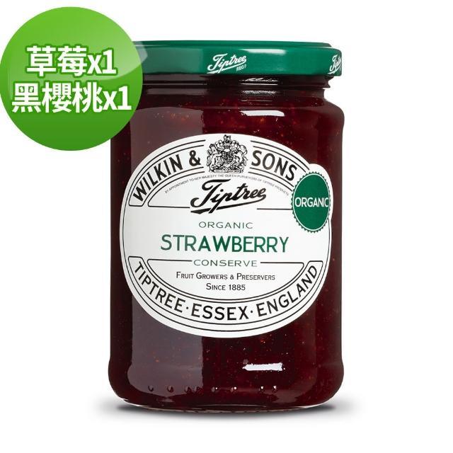 【Tiptree】熱銷果醬2入組(草莓+黑櫻桃)