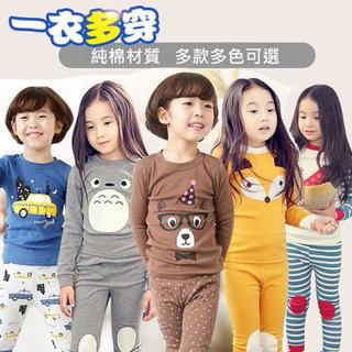 【小衣衫童裝】兒童全棉韓版長袖套裝睡衣褲家居服(1061011)