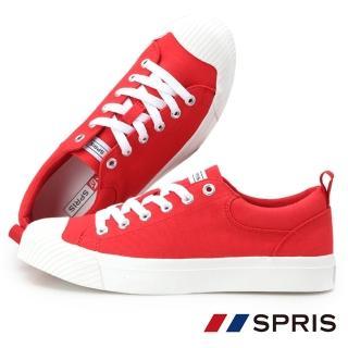 【周子瑜 TWICE x 韓國SPRIS 聯名鞋】TWEET 貝殼頭帆布鞋系列-紅(平底鞋)