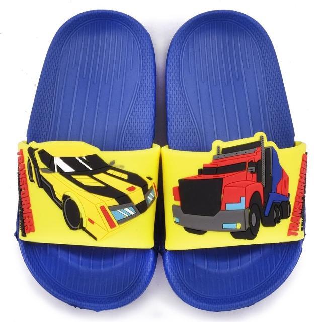 【童鞋城堡】變形金剛 中童 超輕量造型款拖鞋(TF10012-藍)
