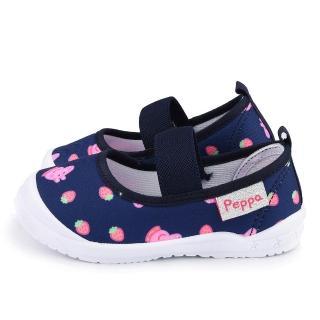 【童鞋城堡】佩佩豬 草莓造型休閒室內鞋 粉紅豬小妹(PG8531-藍)