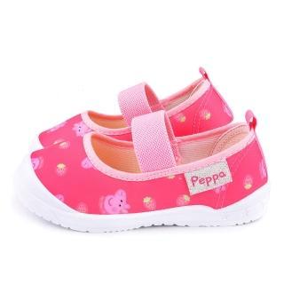 【童鞋城堡】佩佩豬 中童 草莓造型休閒室內鞋(PG8531-粉)