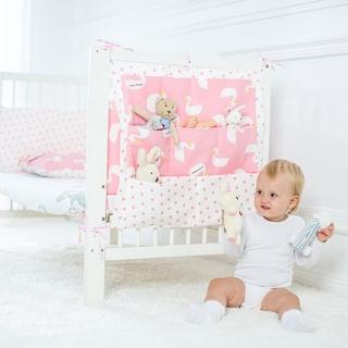 【荷蘭Muslin tree】嬰兒床掛袋奶瓶尿布收納袋