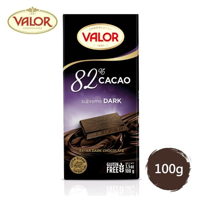 【Valor】82%純黑巧克力片(100g)