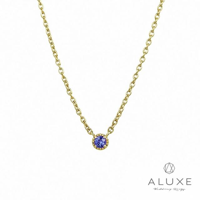 【A-LUXE 亞立詩】Shine輕珠寶 黃K金寶石項鍊(藍寶石)