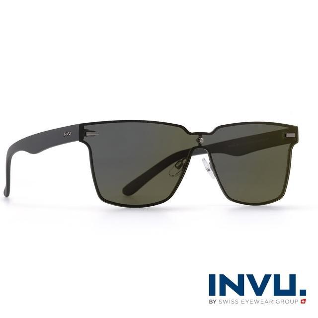 【INVU瑞士】九層鍍膜強化偏光個性太陽眼鏡(黑 T1804A)