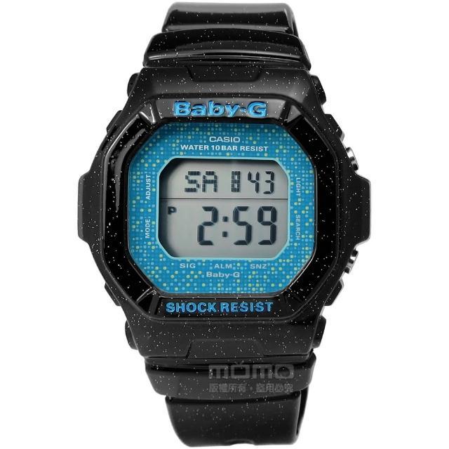 【CASIO 卡西歐】Baby-G 活潑俏皮閃亮時尚魅力電子手錶 光澤黑 39mm(BG-5600GL-1)