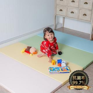 【Mang Mang 小鹿蔓蔓】兒童4cm摺疊地墊(四折200L-粉嫩色)