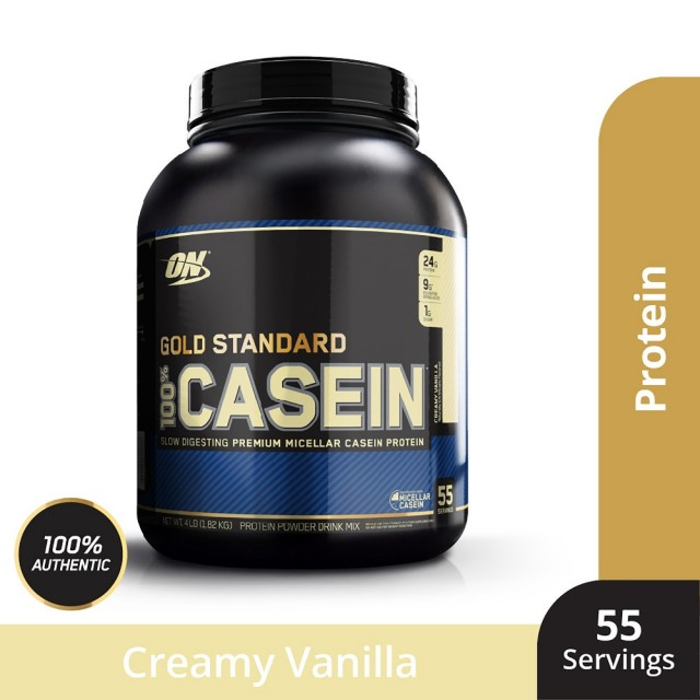【美國ON-歐恩】100% Gold Standard Casein Protein 金牌酪蛋白(4磅香草口味)