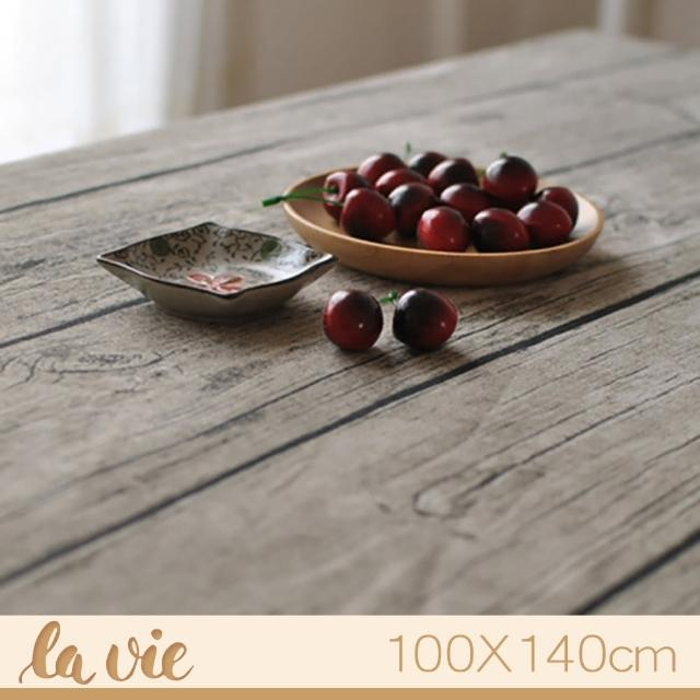 【La Vie】zakka 復古仿真木紋餐桌布(100X140cm)